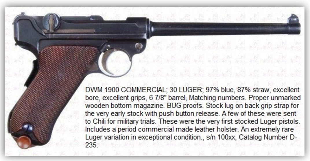 Marine-Modell 1904 P 04 Navy Luger Commercial Instruction Manual